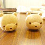 【生徒さんの作品】山口県防府市で開催中の木彫り教室の生徒さんがくまさんの顔を2つも彫りあげました!