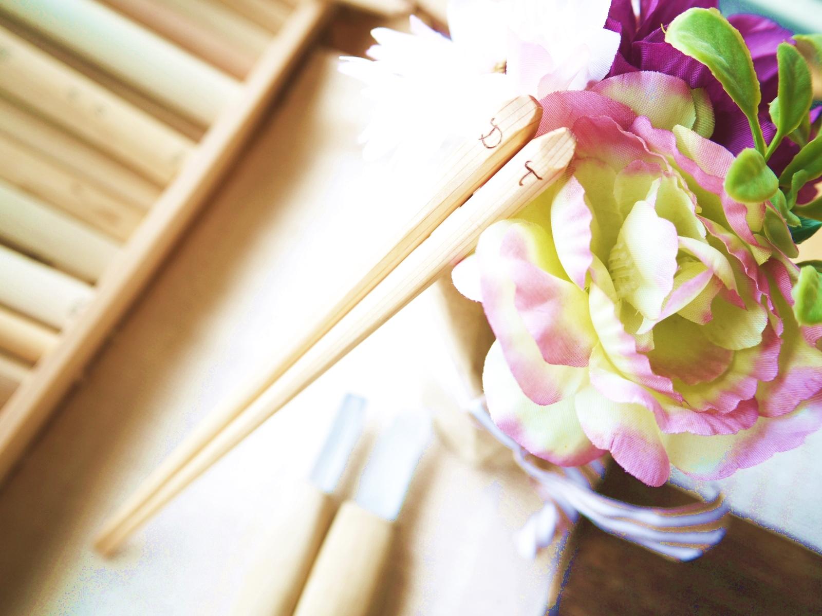 夏休みの宿題片づけます!木彫りで作るマイ箸制作体験やります!
