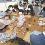 ゆめ花博でのワークショップ大盛況!木彫り体験の楽しい時間!