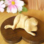 最高の縁起物!木彫りで作る癒しのカエルちゃん完成!